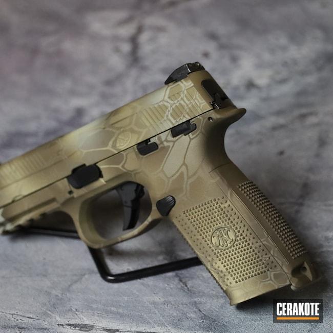 Cerakoted: S.H.O.T,MAGPUL® FLAT DARK EARTH H-267,Pistol,Arid,.40,FN,Handgun,Kryptek,FNS-40,Patriot Brown H-226,BENELLI® SAND H-143,40cal,FNS