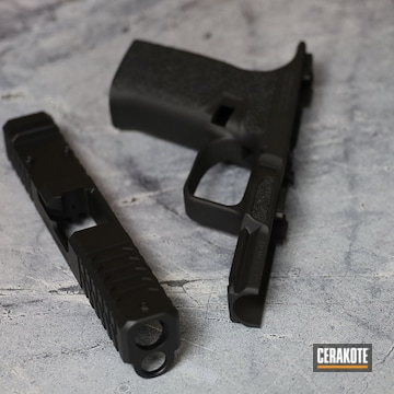 Glock Pistol Cerakoted Using Graphite Black