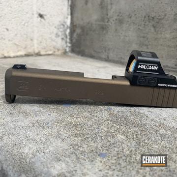 Glock 19x Slide Cerakoted Using Burnt Bronze