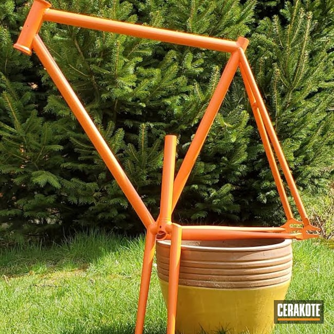 Cerakoted: S.H.O.T,Bicycle Frame,Sports,Sports Equipment,Hunter Orange H-128,Outdoors