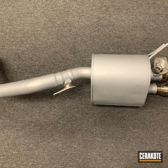 Corvette Muffler Cerakoted Using Satin Nickel