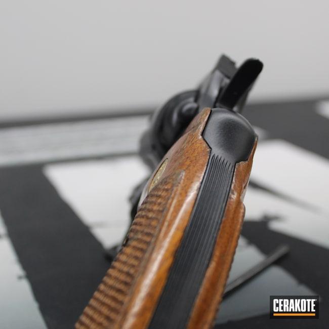 Cerakoted: S.H.O.T,.357,BLACKOUT E-100,.357 Magnum,Clean,Revolver,Restoration,Colt,Colt Trooper,Elite,6 Shot