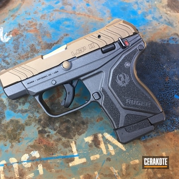 Ruger Lpc Ii Cerakoted Using Burnt Bronze And Cobalt