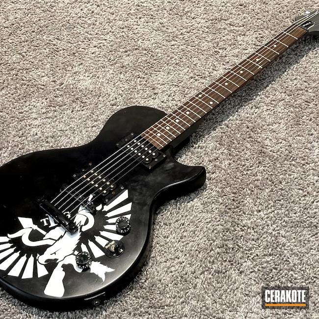 Cerakoted: Graphite Black H-146,Stormtrooper White H-297,Epiphone,Music,Guitar