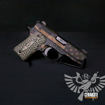 Kimber 1911 Cerakoted Using Graphite Black And Burnt Bronze