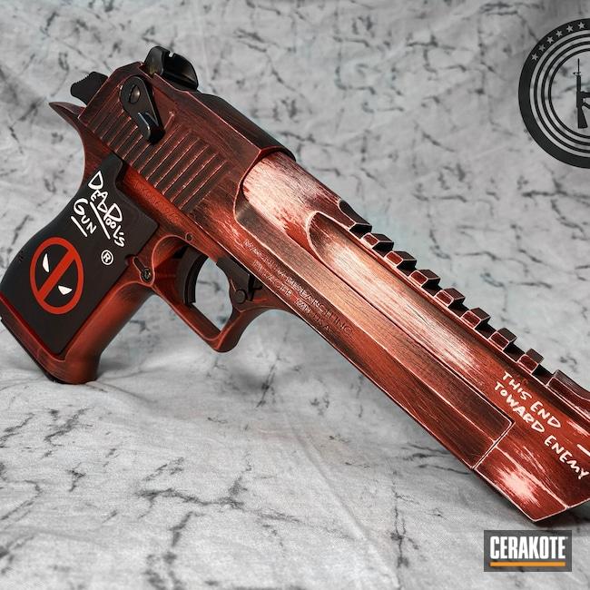 Cerakoted: S.H.O.T,Deadpools Big Gun,Desert Eagle,Deadpool Theme,Deadpool's Gun,.50,Stormtrooper White H-297,Deadpool,Armor Black H-190,HABANERO RED H-318