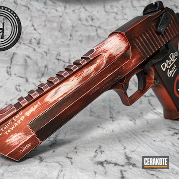 Deadpool Themed Desert Eagle 1911 Cerakoted Using Armor Black, Stormtrooper White And Habanero Red