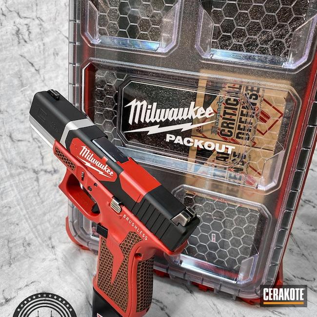 Cerakoted: S.H.O.T,Milwaukee,USMC Red H-167,Satin Aluminum H-151,Armor Black H-190,Glock,.40,Milwaukee Tool Theme,G23