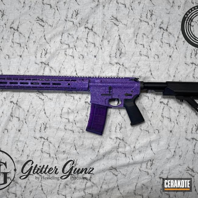 Cerakoted: S.H.O.T,Aero Precision,Rave,Glitter,Custom,Bright Purple H-217,Sparkle,Glit-AR,5.56