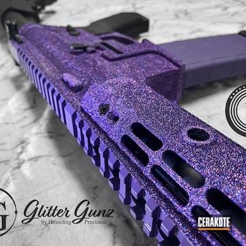 Glittered Ar Build Cerakoted Using Bright Purple