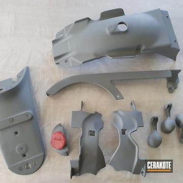 Motorcycle Parts Cerakoted Using Bull Shark Grey