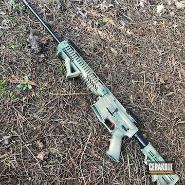 Custom .410 Gauge Ar Shotgun Build Cerakoted Using Highland Green And Coyote Tan