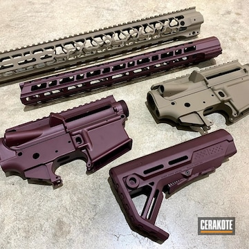 Ar Builders Sets Cerakoted Using Plum Brown, Black Cherry And Magpul® Flat Dark Earth