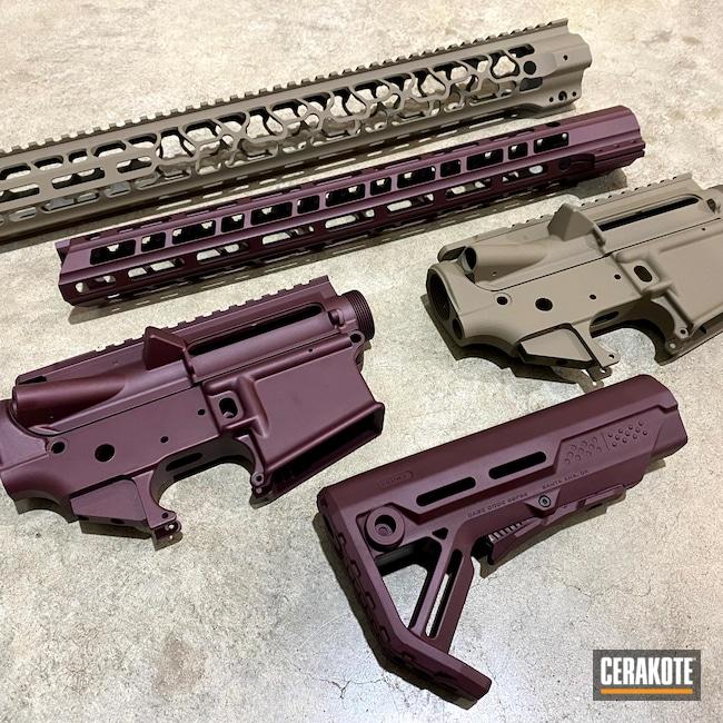 Cerakoted: S.H.O.T,MAGPUL® FLAT DARK EARTH H-267,Custom Color Blend,AR,BLACK CHERRY H-319,Upper / Lower / Handguard,Magpul FDE,Plum,Gun Parts,80%,Plum Brown H-298,AR-15