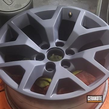 Wheels Cerakoted Using Graphite Black
