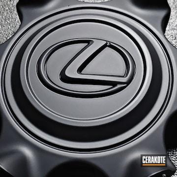 Lexus Wheels Cerakoted Using Graphite Black