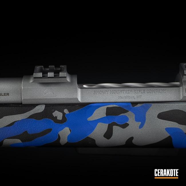Cerakoted: S.H.O.T,Bolt Action Rifle,MultiCam,Graphite Black H-146,BLUE FLAME C-158,Tactical Grey H-227