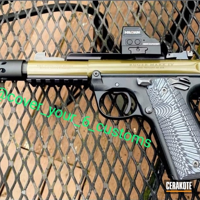 Cerakoted: S.H.O.T,Ruger,Mark IV,Pistol,.22LR,MAGPUL® O.D. GREEN H-232