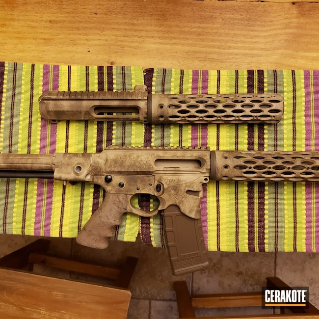 Cerakoted: Desert Sand H-199,Patriot Brown H-226,.223,Branson Cerakote,.300 Blackout,Desert Tan Base,AR-15