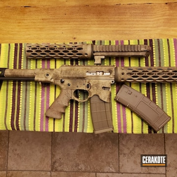 Battleworn Ar Cerakoted Using Desert Sand And Patriot Brown