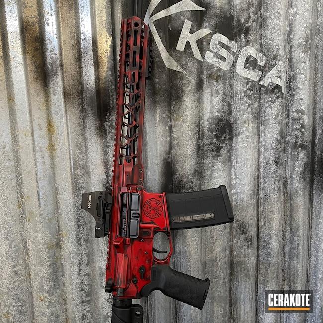 Cerakoted: S.H.O.T,Graphite Black H-146,RUBY RED H-306