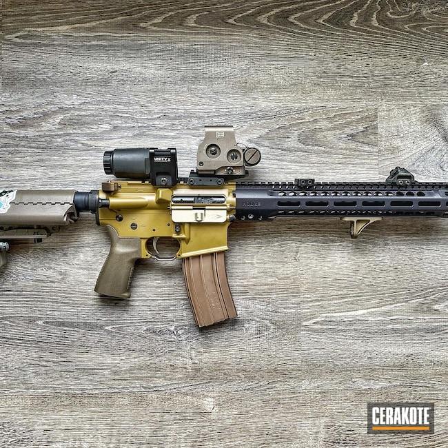 Cerakoted: S.H.O.T,Ral 8000 H-8000,.223,AR Rifle,Centurion Arms
