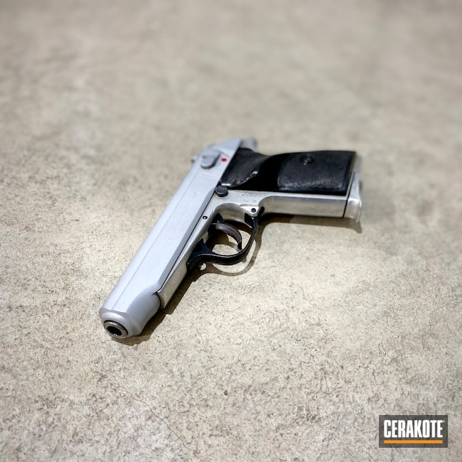 Cerakoted: S.H.O.T,Surplus Ammo & Arms,Crushed Silver H-255,Refinished,Makarov,Firearms,PA63,Military
