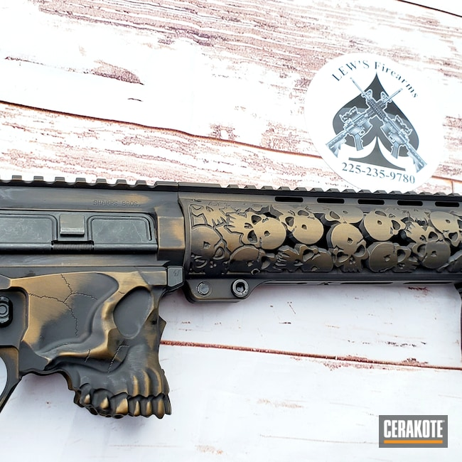 Cerakoted: S.H.O.T,Graphite Black H-146,Burnt Bronze H-148,AR Rifle