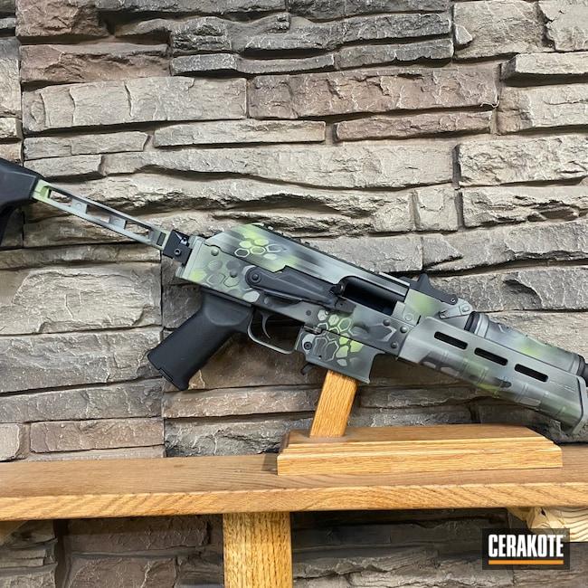 Cerakoted: S.H.O.T,9mm,Palmetto State Armory,Graphite Black H-146,Zombie Green H-168,Bull Shark Grey H-214,AK Rifle