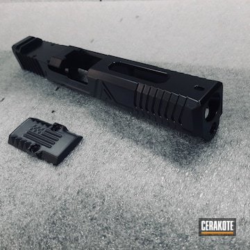 Glock 17 Slide Cerakoted Using Gloss Black
