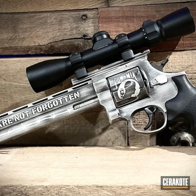Battleworn Taurus Revolver Cerakoted Using Armor Black And Frost