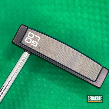 Golf Putter Cerakoted Using Midnight Blue And Northern Lights