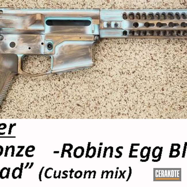Cerakoted: S.H.O.T,Robin's Egg Blue H-175,BARRETT® BRONZE H-259,Copper Patina