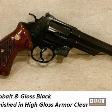 Revolver Cerakoted Using Gloss Black