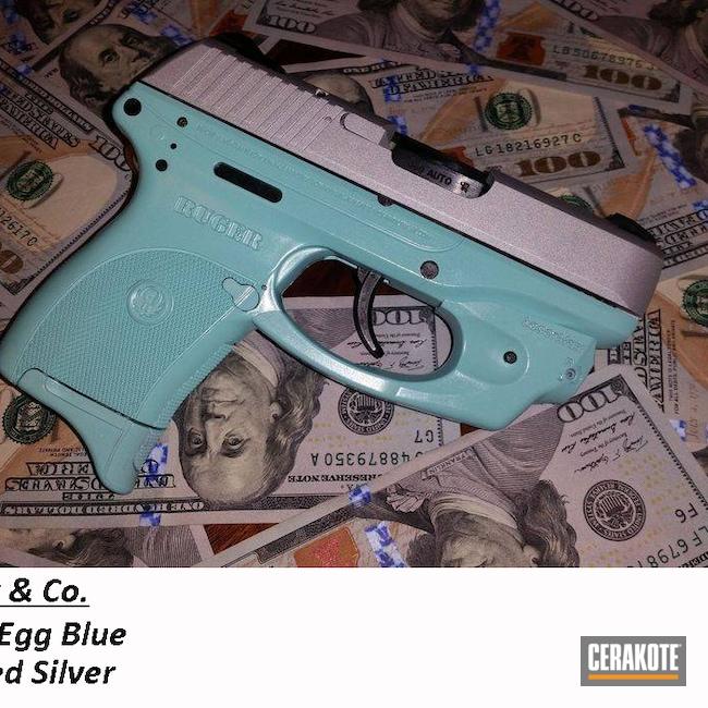 Cerakoted: S.H.O.T,Robin's Egg Blue H-175,Ruger,Crushed Silver H-255