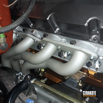 Chevy Exhaust Headers Cerakoted Using Cerakote Glacier Titanium