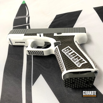 Custom Glock 19 Pistol Cerakoted Using Bright White