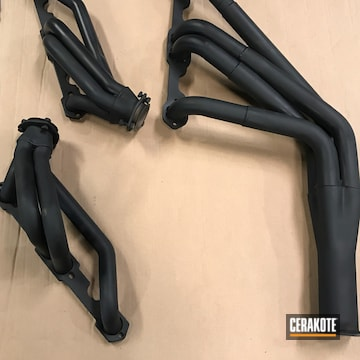 Headers Cerakoted Using Jet Black