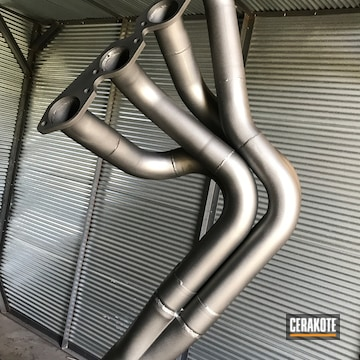 Exhaust Headers Cerakoted Using Cerakote Glacier Silver