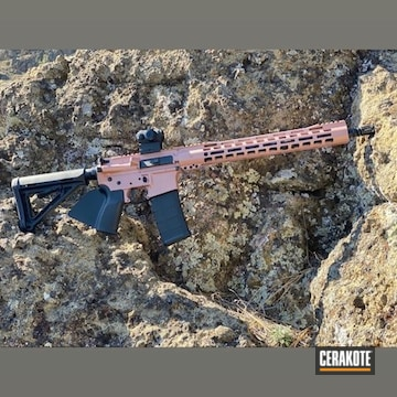 Ar Cerakoted Using Pink Champagne