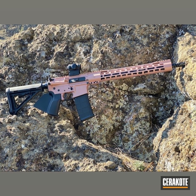 Cerakoted: S.H.O.T,PINK CHAMPAGNE H-311,Pink,.223,AR Rifle