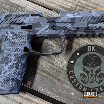Urban Camo Wilson Combat Pistol Cerakoted Using Armor Black