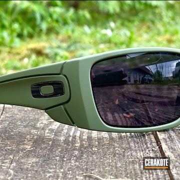 Oakley Sunglasses Cerakoted Using Multicam® Dark Green