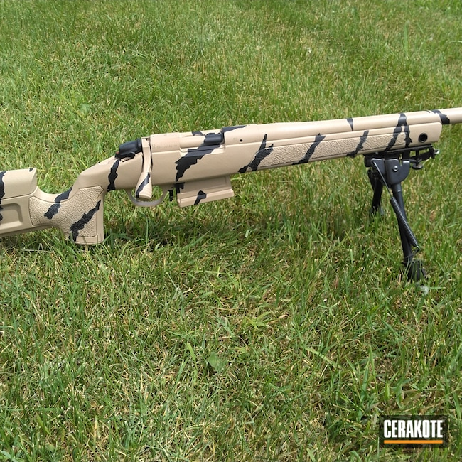 Cerakoted: S.H.O.T,Tiger Stripes,Bolt Action,Graphite Black H-146,Desert Sand H-199,Bergara,Firearms