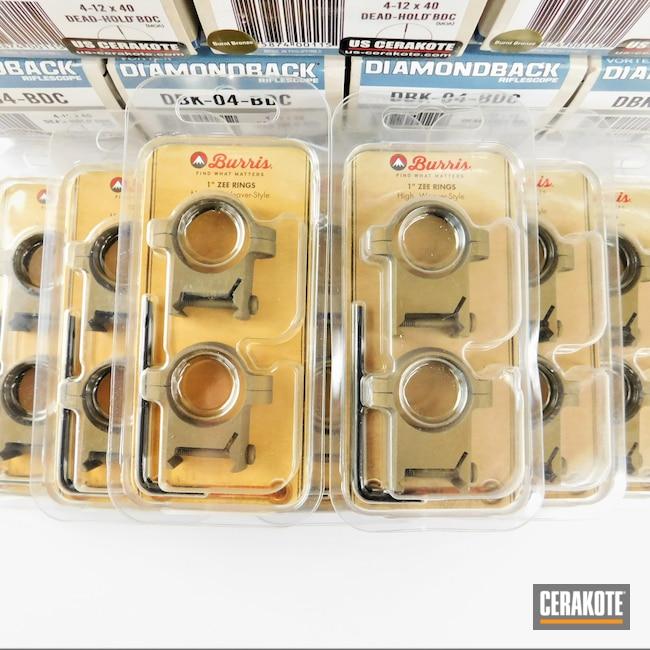 Cerakoted: S.H.O.T,Scope Mount,Diamondback,Tungsten H-237,Rifle Scope,Flat Dark Earth H-265,Vortex,Scope,Scopes,Vortex Scope,Optic,Burnt Bronze H-148,Burris,Satin Aluminum H-151,Scope Rings,Optics