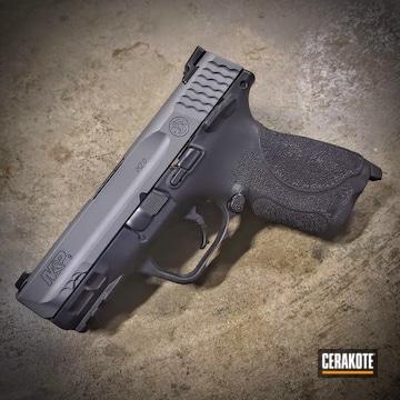 Smith & Wesson M&p Shield Pistol Cerakoted Using Titanium