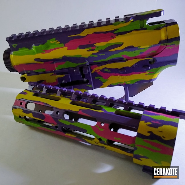 Cerakoted: S.H.O.T,Bright Purple H-217,Zombie Green H-168,SIG™ PINK H-224,SUNFLOWER H-317