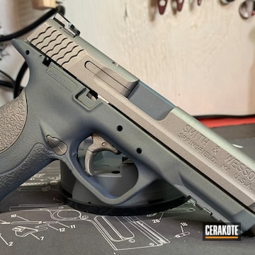 Smith & Wesson M&p 40 Cerakoted Using Stainless And Northern Lights