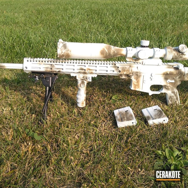Cerakoted: S.H.O.T,Rifle,Magazines,MAGPUL® FLAT DARK EARTH H-267,Magazine,6.5 Grendel,Rifle Scope,MAGPUL® O.D. GREEN H-232,Semi-Auto,Snow Camo,Scope,Sage Brush,Stormtrooper White H-297,Optic,AR-15