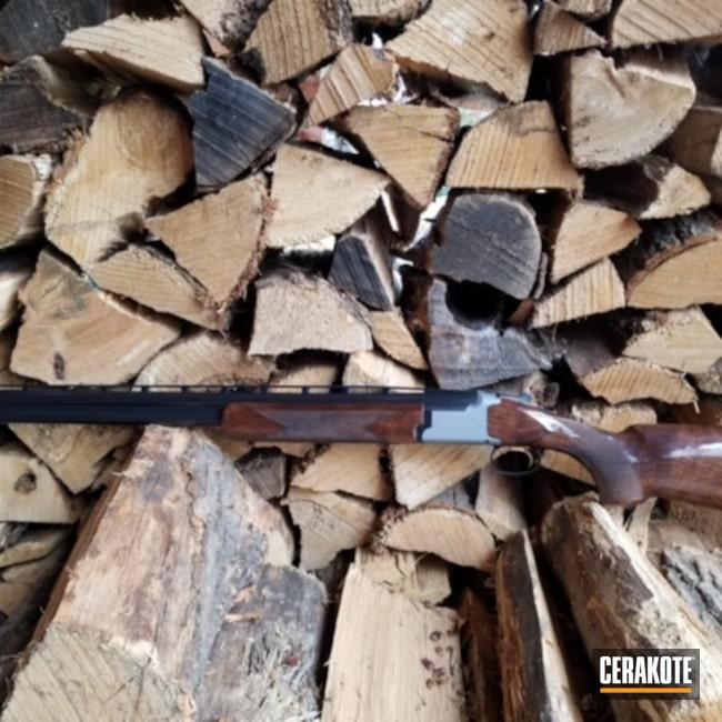 Cerakoted: S.H.O.T,Titanium E-250,Citori,Trapping Gun,BLACKOUT E-100,Browning,12 Gauge,Gold H-122